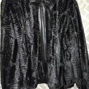 Alfred Dunner Zip Up Faux Fur Coat
